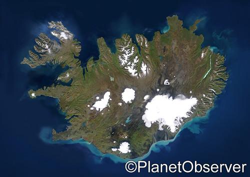 Satellite Map Of Iceland