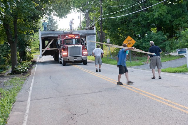 Moving the old Blacksmith Shop