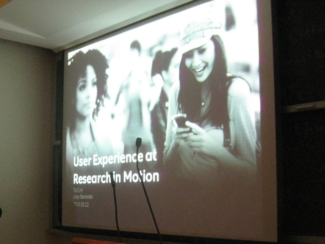 ToRCHI Talk: User Experience at RIM