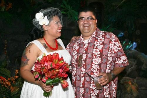 Danelle & Jason's Tiki Wedding