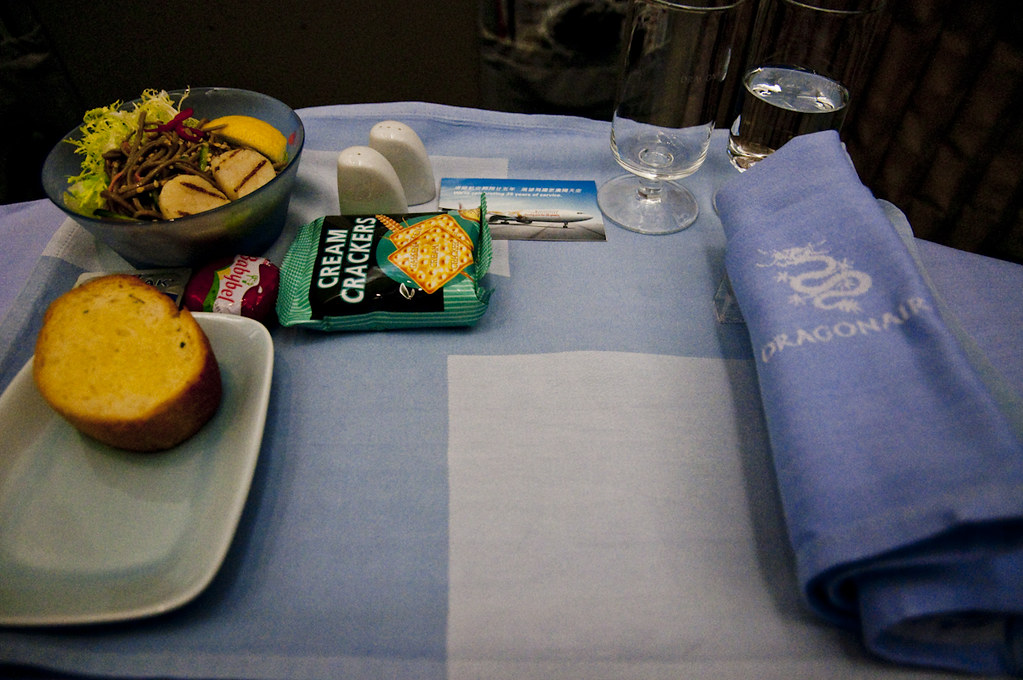 Business Class Table Setting