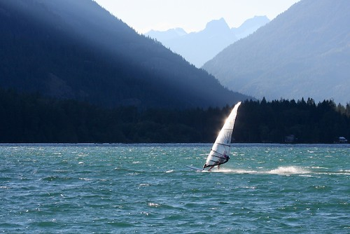 Windsurfing on Lake Chelan