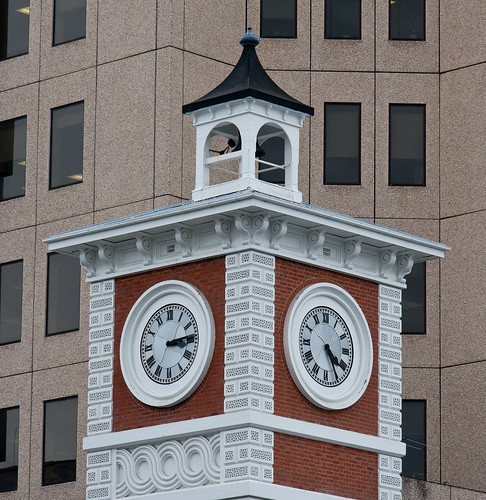 Christchurch Square Clock Tower damaged by Equake
