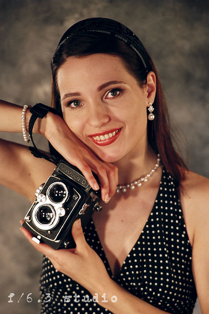 Yashica-D with Lyuba