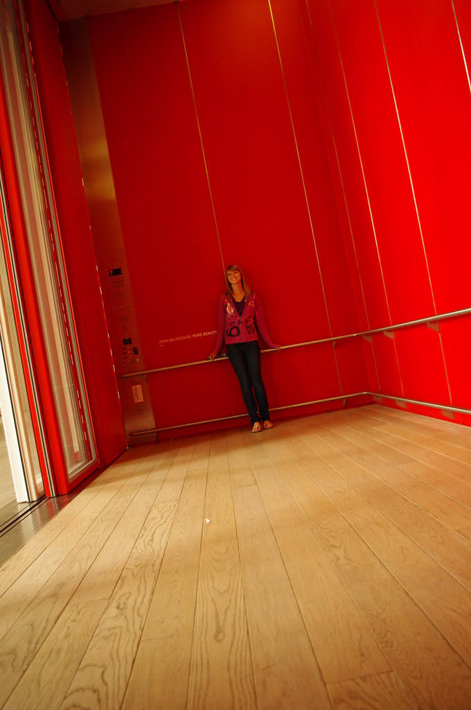 Huge Elevator in an art museum in Los Angeles