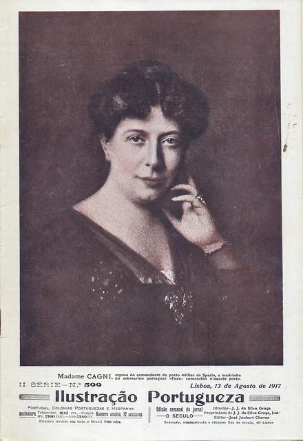 Ilustração Portugueza, No. 599, August 13 1917 - cover by Gatochy