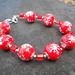 Red Snowflake Christmas Bracelet