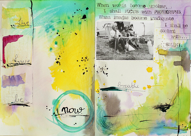 art journal :: live, love, be... now breathe