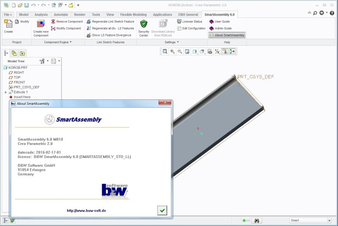 working with BW SmartAssembly 6.0 M010 for PTC WildFire-Creo 32bit 64bit