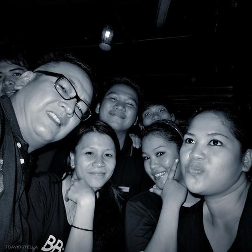 friends at BB Cafe, Gaya Street, Kota Kinabalu