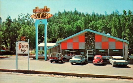 Chuck's Pancakes (a.k.a. Chuck's Restaurant) - Placerville, California U.S.A. - 1960s