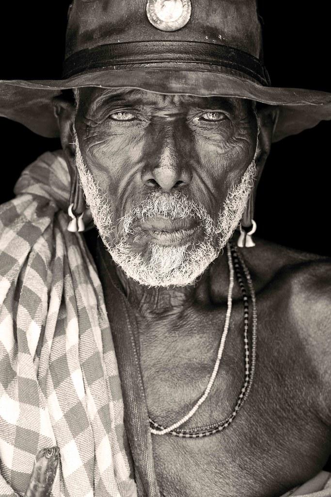 old samburu from logologo / kenya