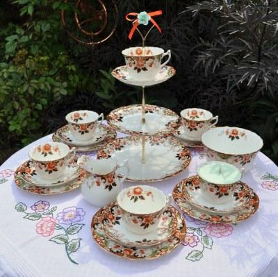 Victorian Tea Set & Cake Stand