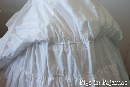 Victorian Petticoat layer seam closeup