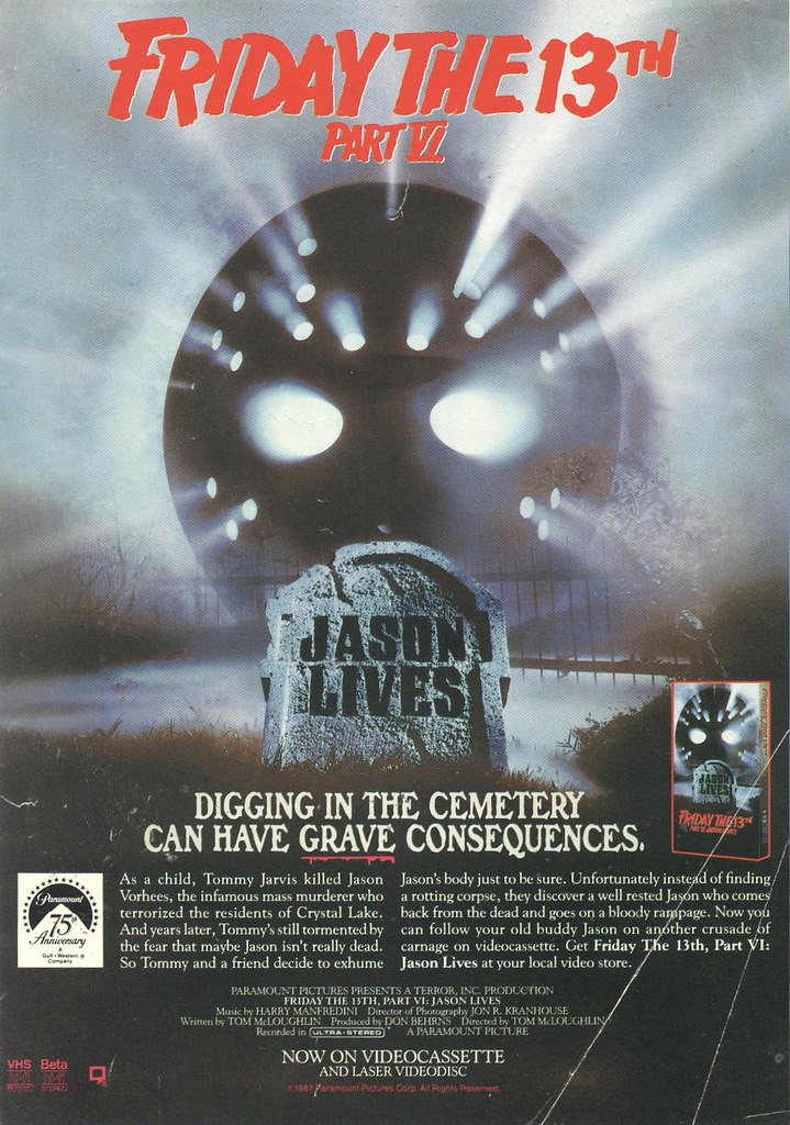Friday the 13th 6: Jason Lives on VHS