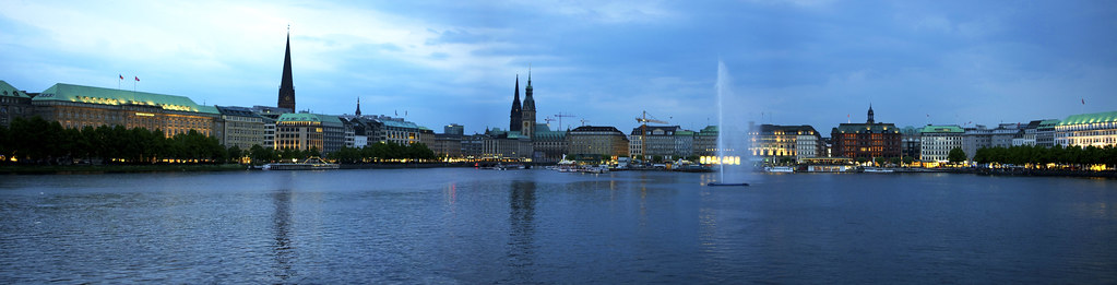 Panorama of Hamburg