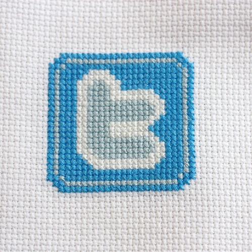 twitter cross stitch