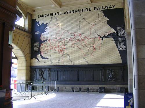Map of Lancashire and Yorkshire Railway System, Manchester Victoria Station