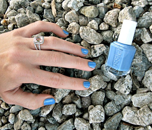 Essie nail polish+Lapis of Luxury+blue nail lacquer + My ring