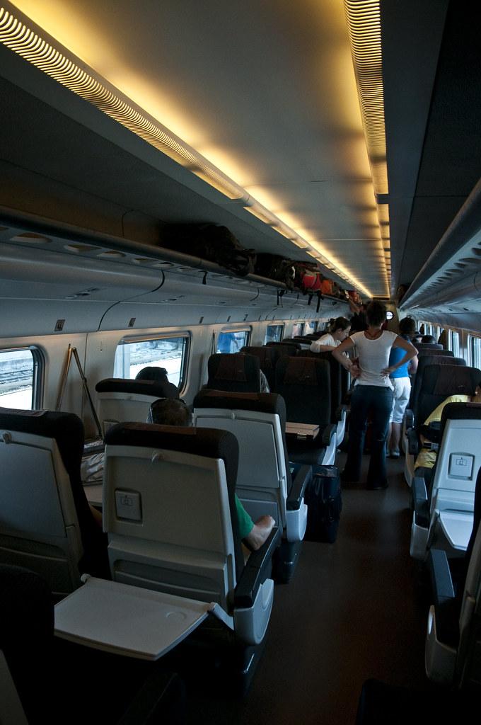Onboard Eurostar Italia to Rome