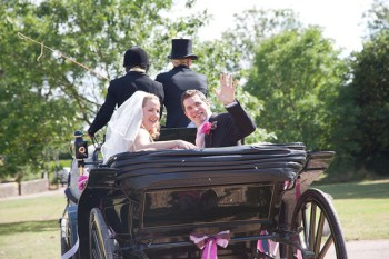 Complete your fairytale wedding with a horse-drawn carriage