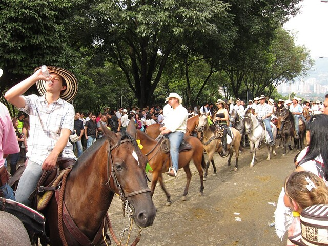 La Cabalgata is a steady stream of 6,000 horses.