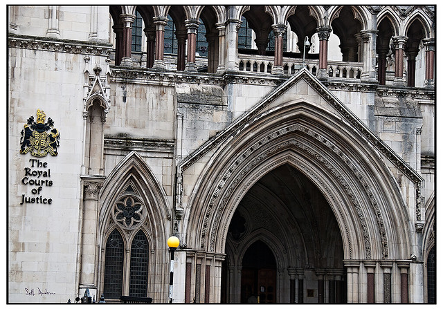 Doorway to The Royal Courts of Justice