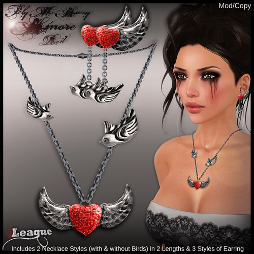 *League* Fly Me Away Amore Jewellery Set -Red