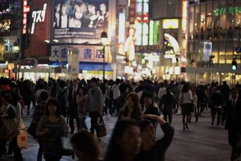 Crowds in Shibuya