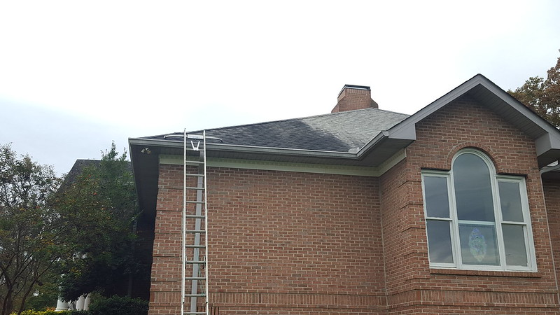 Soft roof cleaning before pic