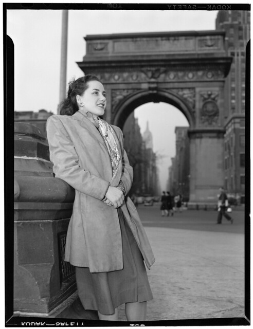 [Portrait of Ann Hathaway, Washington Square, New York, N.Y., ca. May 1947] (LOC)