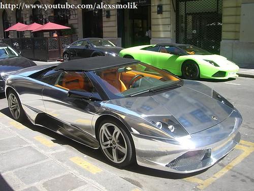 chrome Lamborghini LP640 roadster