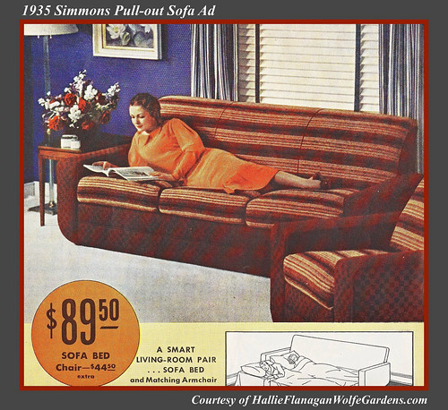 1935 Simmons Pull out sofa ad