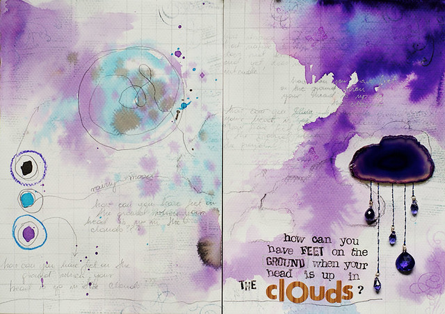 art journal :: head in the clouds