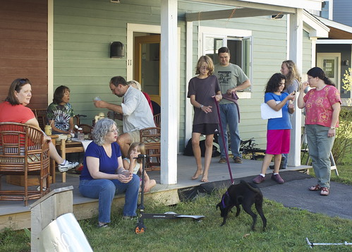 gathering at Dave's porch