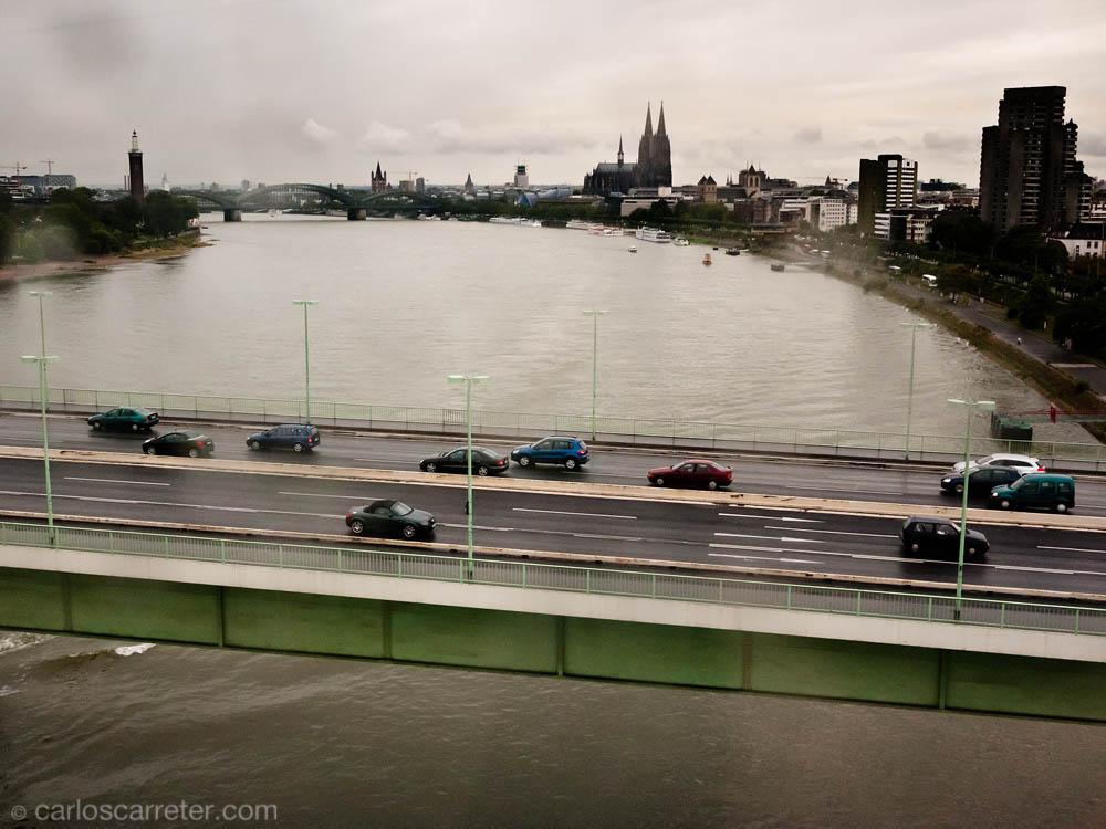 Vista desde el telecabina sobre el Rin