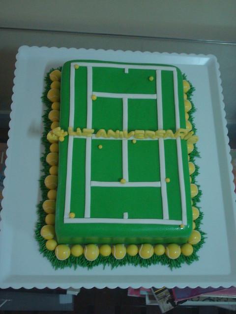 Tennis Court Birthday Cake Flickr Photo Sharing