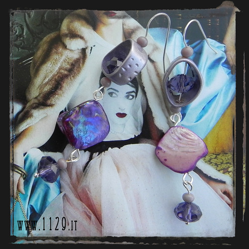 LLSAVI orecchini viola - purple earrings 1129