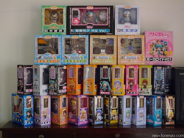 Stack of Nendoroid boxes
