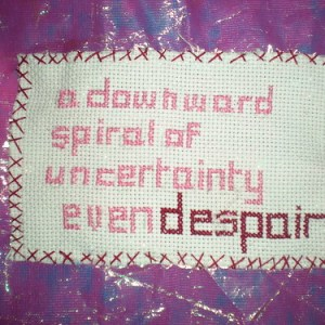 Craftivist Ellen Loudon, Liverpool on why she quoted Archbishop Rowan Williams for her patch