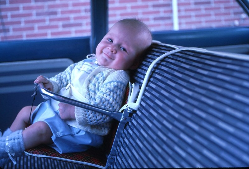 New Baby Car Seat - 3 Months - June 1962