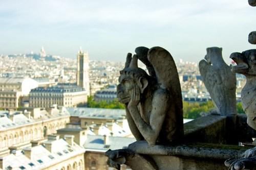 Bored Gargoyle of Notre Dame