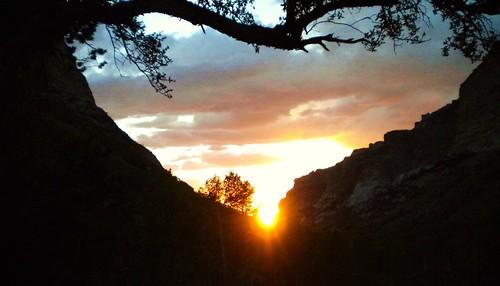 puesta de sol en Lamoille, NV