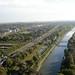 Blick vom Gasometer Oberhausen nach Westen: Emscher