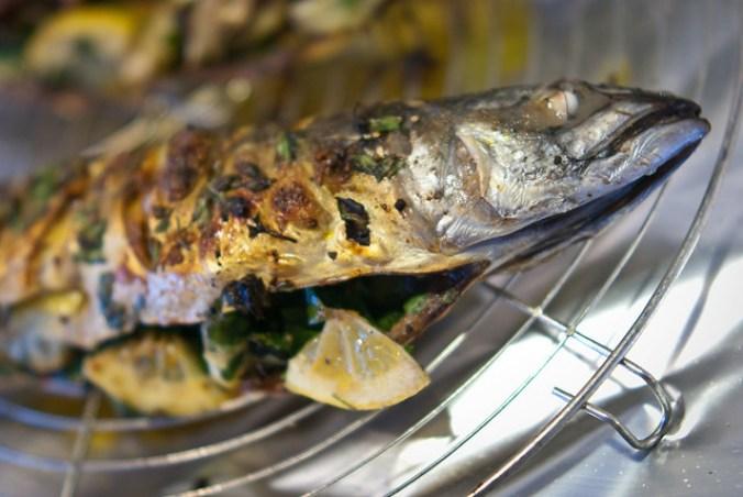 Gegrilde makreel met ras el hanout