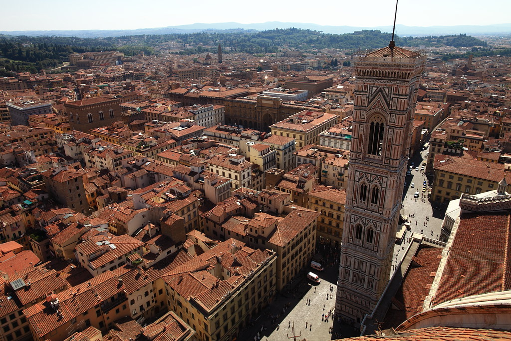 View with Campanile @ Firenze, Italy