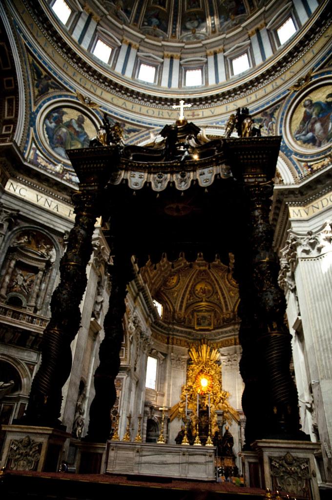 Altar with Bernini's Baldacchino