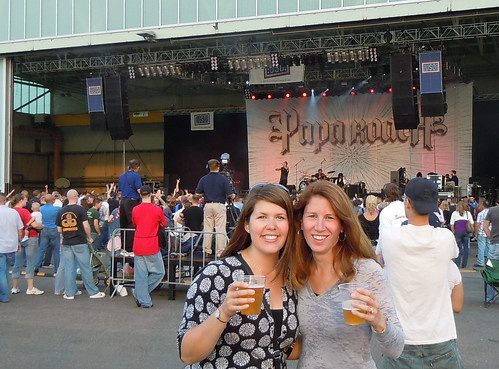 Obligatory Jen & me with beers at a concert photo :)