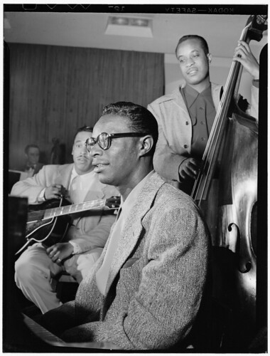[Portrait of Oscar Moore, Nat King Cole, and Wesley Prince, New York, N.Y., ca. July 1946] (LOC)