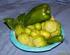 Basil, Green Pepper, Tomatillos and Jalapeño Pepper